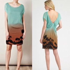 DVF   NWT Silk Cordie Turquoise Sunset Dress   10